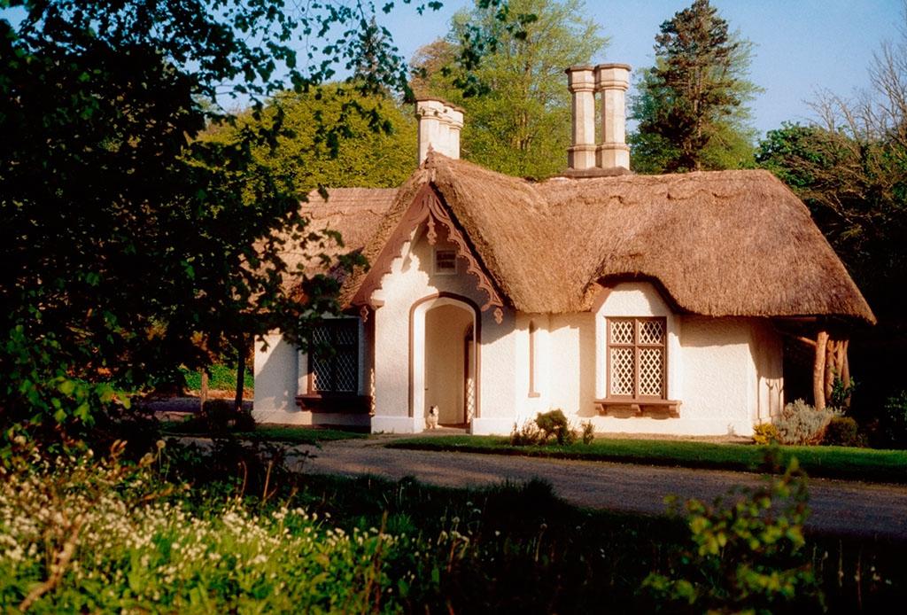 爱尔兰,茅草屋顶,屋舍