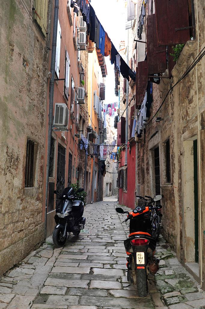 克罗地亚,摩托车,停放