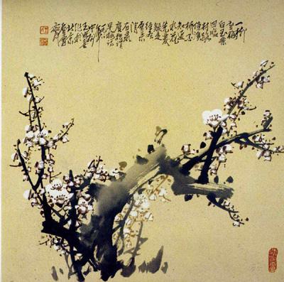 中国历代文人志士爱梅,颂梅者极多;梅以它的高洁,坚强,谦虚的品格,给图片