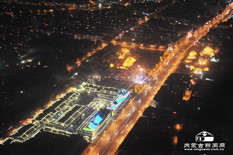 俯拍大昭寺广场-内蒙古文化艺术网 内蒙古文化艺术研究会